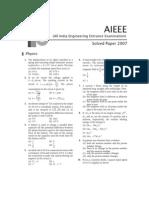 Aieee Question Paper 2