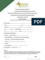 Scheda Iscrizione AID Avellino 2012