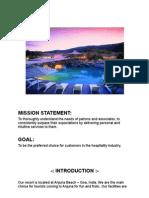 Anjuna Beach Resort - Assignment - Hospitality Management