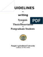 Synopsis and Thesis Guidelines