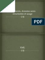 Documents, données semi-structurées et usage