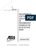 1995 Standard for Requirements for the Qualification of Reverberant Rooms in the 63 Hz Octave Band
