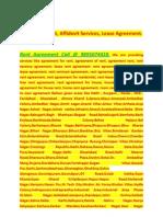 Rent Agreement Affidevit Services