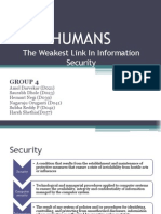 Humans-The Weakest Link-Group 4 PPT