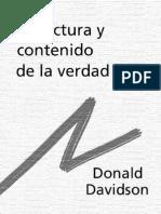 Donald Davidson - Estructura y Contenido de La Verdad