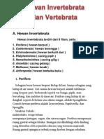 Hewan Invertebrata Dan Vertebrata