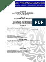 (Draft) Tap No 08 - Mekanisme Kesekretariatan 2012