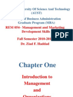 Management Chapter 1 Fall 10-11