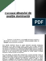 Formele abuzului de poziţie dominantă