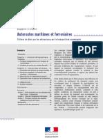 Autoroutes maritimes & ferroviaires _critères de choix pour les entreprises SETRA2007