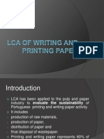 Lca of Writing and Printing Paper