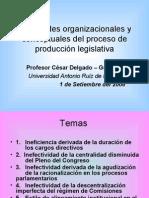 CDG - Impacto legislativo del modelo de organización parlamentaria y de producción normativa