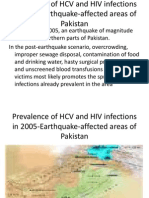 Prevalence of HCV and HIV Infections in 2005-Earthquake-Affected