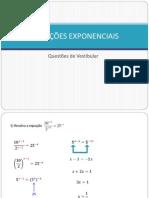 Equacoes Exponenciais - 2012
