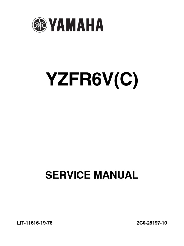 2006 Yamaha YZF-R6 Service Manual | Throttle | Fuel Injection