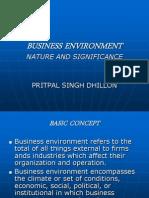 Business Environ- Ment