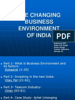 Changing Business Environment in India- Group 9