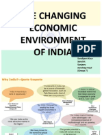 Changing economic environment of India