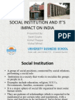 Social Institution & Its Impact on India