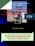 Riesgo de Electrocucion en Instalaciones Aereas de Media Tension y Prevencion de Accidentes