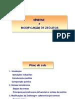 Síntese e Modificação Zeólitos