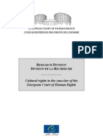 Rapport Jurisprudence Cultural Rights