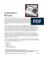 NP Non Profit Organization By Laws