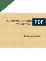Software Deadline Time Estimation