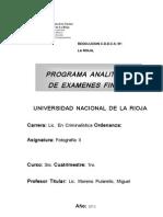 Crim - Foto II - Programa Analitico y Finales 2012
