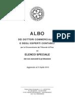 Odcec Pisa - Albo 2010