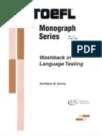 Washback in Language Testing
