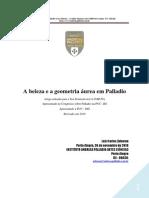 A beleza e a geometria áurea em Palladio