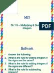 Mu Lit Plying & Dividing Integers