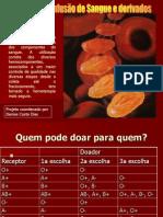 INFUSÃO DE SANGUE E HEMODERIVADOS