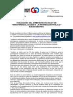 Evaluación del anteproyecto de Ley de Transparencia, Acceso a la información Pública y Buen Gobierno