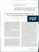 Influence of Market Orientation