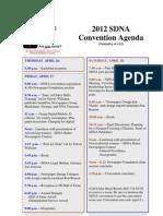 2012 SDNA Convention Agenda 4-1-12
