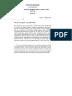 HISTORIA DE LAS TEORÍAS DEL VALOR Y DEL PRECIO  Parte 2 Juan C. Cachanosky