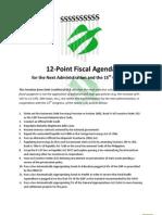 FDC Fiscal Agenda