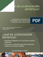 QUÉ ES LA EDUCACIÓN ARTÍSTICA clase2