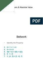 Integers & Absolute Value ED