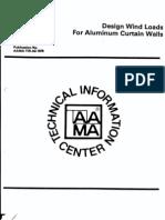 Design Wind Loads for Aluminum Curtain Walls (1975)