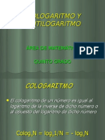COLOGARITMO Y ANTILOGARITMO