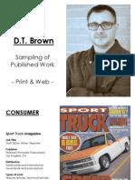 DavidtBrownSummaryPortfolio2012