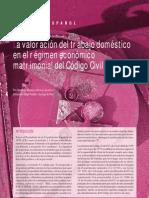 5 La valoración del trabajo doméstico en el régimen económico matrimonial del Código Civil español-María de Aránzazu Novales Alquézar