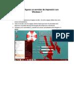 Cómo configurar un servidor de impresión con Windows