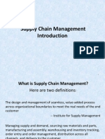 1.0 Introduction to Supply Chain Management (SCM)