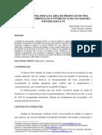 ESTRUTURA FÍSICA DA ÁREA DE PRODUÇÃO DE UMA UNIDADE DE ALIMENTAÇÃO E NUTRIÇÃO (UAN) LOCALIZADA EM FORTALEZA-CE
