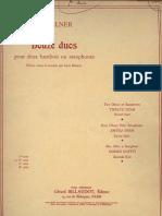 SAXOFONE - ESTUDOS - Sellner - Doze Estudos Para Dueto de Saxofones - Suite n.2