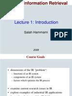 IR1 Introduction